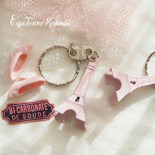 フランスお土産 エッフェル塔キーホルダー 単品売り【Baby pink】【画像4】
