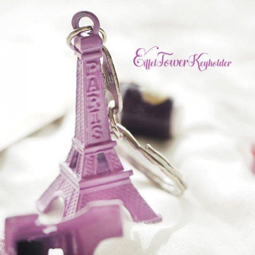 フランスお土産 エッフェル塔キーホルダー 単品売り【lavender】【画像6】
