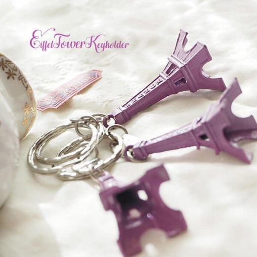 フランスお土産 エッフェル塔キーホルダー 単品売り【lavender】【画像7】