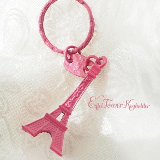 フランスお土産 エッフェル塔キーホルダー 単品売り【rose pink】【画像5】