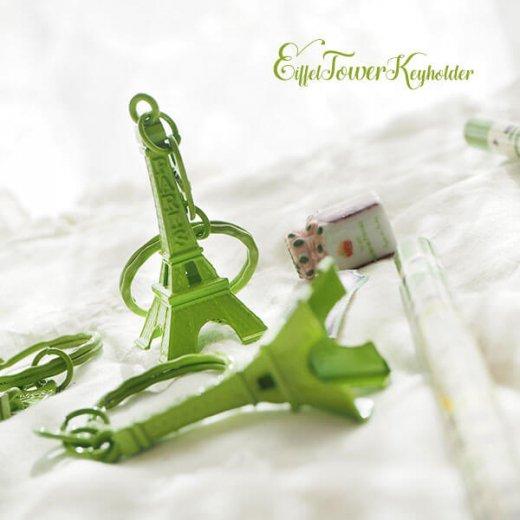 フランスお土産 エッフェル塔キーホルダー 単品売り【leaf green】【画像5】