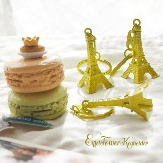 フランスお土産 エッフェル塔キーホルダー 単品売り【 lime yellow】【画像3】