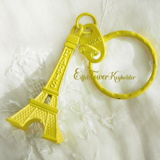 フランスお土産 エッフェル塔キーホルダー 単品売り【 lime yellow】【画像4】