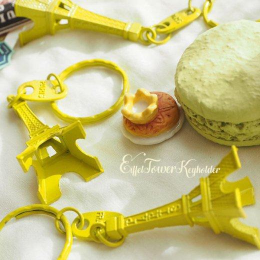 フランスお土産 エッフェル塔キーホルダー 単品売り【 lime yellow】【画像5】