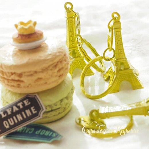 フランスお土産 エッフェル塔キーホルダー 単品売り【 lime yellow】【画像6】