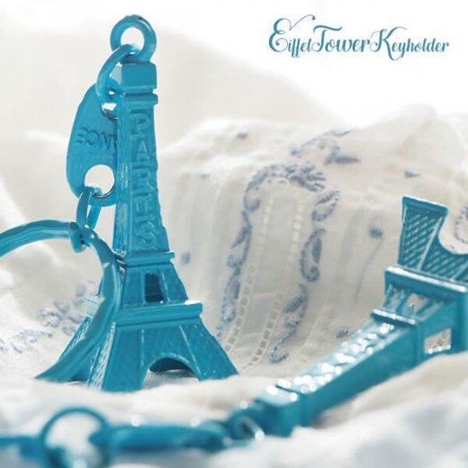 フランスお土産 エッフェル塔キーホルダー 単品売り【turquoise blue】【画像6】
