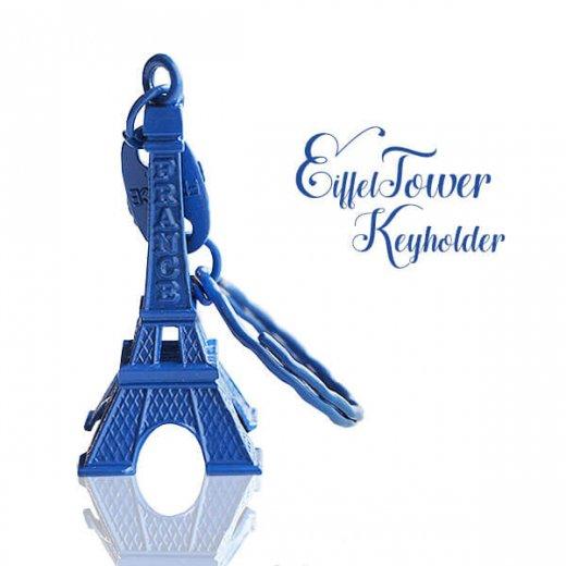 フランスお土産 エッフェル塔キーホルダー 単品売り【royal blue】
