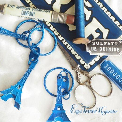 フランスお土産 エッフェル塔キーホルダー 単品売り【royal blue】【画像5】