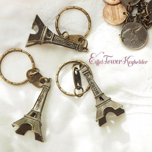 フランスお土産 エッフェル塔キーホルダー 単品売り【copper】【画像2】