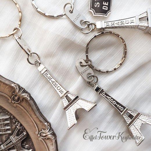フランスお土産 エッフェル塔キーホルダー 単品売り【silver】【画像4】