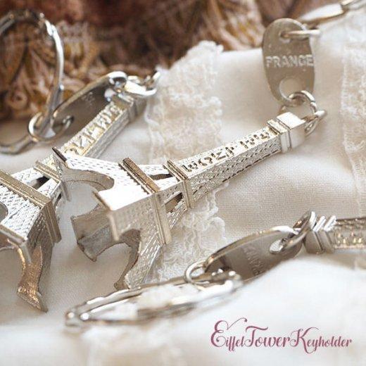 フランスお土産 エッフェル塔キーホルダー 単品売り【silver】【画像7】