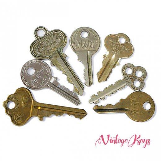 USA 1950年代〜 アンティーク キー 6本セット 鍵【D-type】【画像2】