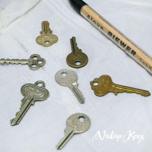 USA 1950年代〜 アンティーク キー 6本セット 鍵【D-type】【画像4】