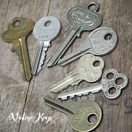 USA 1950年代〜 アンティーク キー 6本セット 鍵【D-type】【画像6】