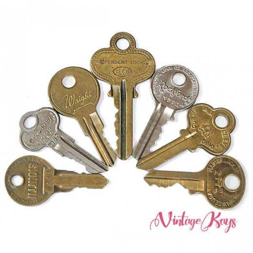 USA 1950年代〜 アンティーク キー 6本セット 鍵【B-type】【画像2】