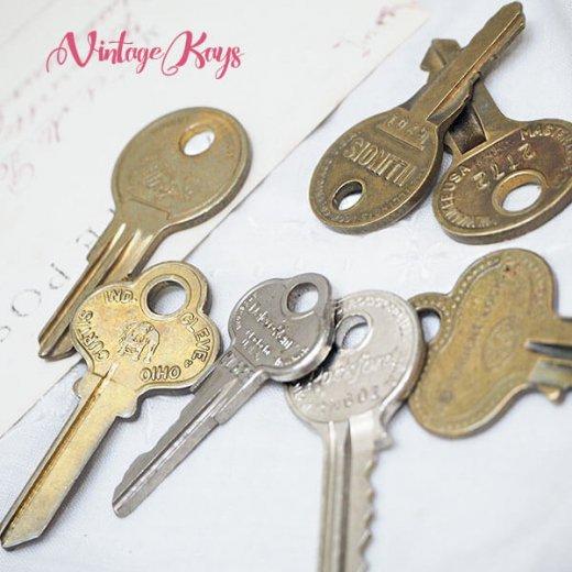 USA 1950年代〜 アンティーク キー 6本セット 鍵【B-type】【画像4】