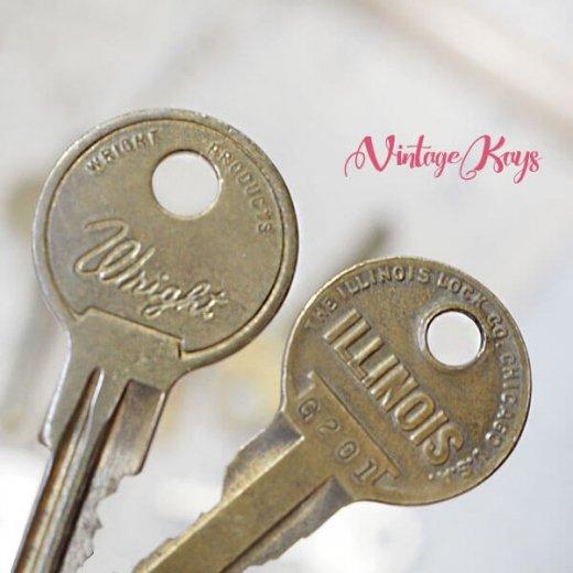 USA 1950年代〜 アンティーク キー 6本セット 鍵【B-type】【画像7】