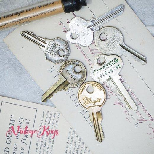USA 1950年代〜 アンティーク キー 6本セット 鍵【A-type】