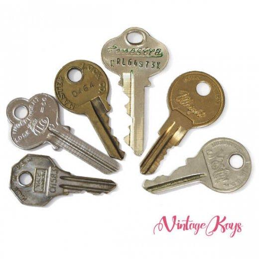 USA 1950年代〜 アンティーク キー 6本セット 鍵【A-type】【画像2】