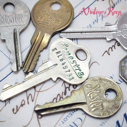 USA 1950年代〜 アンティーク キー 6本セット 鍵【A-type】【画像3】