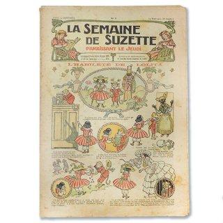 ビンテージ/アンティーク本 フランス La Semaine de Suzette(アンティーク週間誌 J)