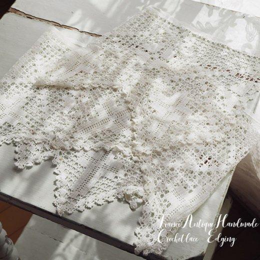 フランス 教会アンティーク かぎ編み 方眼編みブレード【 十字架デザイン】【画像3】
