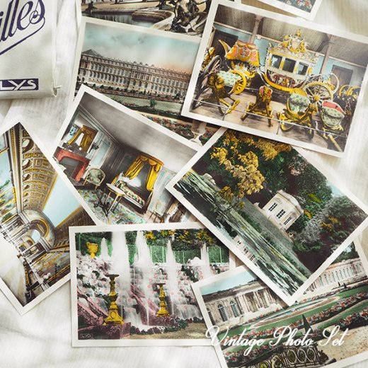 【希少】フランス 1920年代 アンティーク 彩色写真 スーベニア フォトカードセット(ベルサイユ宮殿)【画像2】