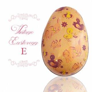 イギリス 1950年代 アンティーク イースターエッグ【E】ピーチ・ティン缶 復活祭うさぎ ひよこ