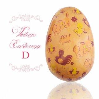イースター 復活祭 雑貨 イギリス 1950年代 アンティーク イースターエッグ【D】ピーチ・ティン缶 復活祭うさぎ ひよこ