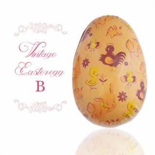 イースター 復活祭 雑貨 イギリス 1950年代 アンティーク イースターエッグ【B】ピーチ・ティン缶 復活祭うさぎ ひよこ