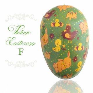 イースター 復活祭 雑貨 イギリス 1950年代 アンティーク イースターエッグ【F】グリーン・ティン缶 復活祭うさぎ ひよこ