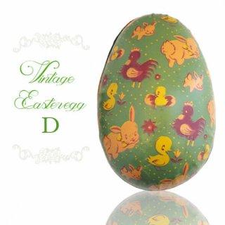 イースター 復活祭 雑貨 イギリス 1950年代 アンティーク イースターエッグ【D】グリーン・ティン缶 復活祭うさぎ ひよこ
