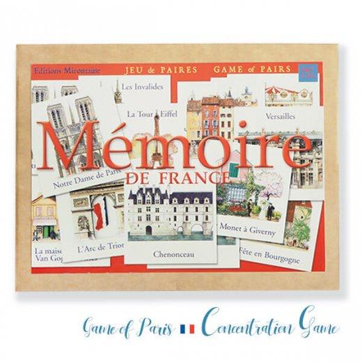 フランス 記憶力 カードゲーム メモワール【フランスの建物】エッフェル塔 凱旋門  Editions Mirontaine エディション ミロンテーン社