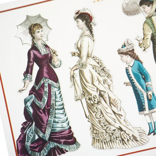 フランス ポストカード 【ヴィクトリアン朝 1877/1879年衣装 】【画像3】