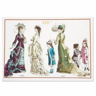 フランス ポストカード 【ヴィクトリアン朝 1877/1879年衣装 】