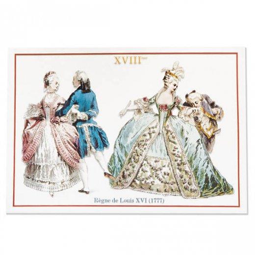 フランス ポストカード 【ヴィクトリアン朝 ルイ16世時代 1777年衣装 】