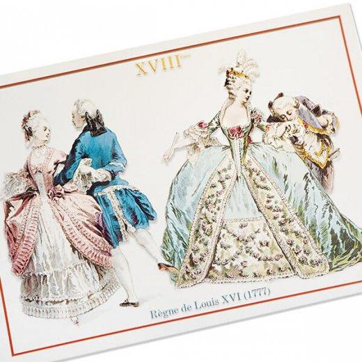 フランス ポストカード 【ヴィクトリアン朝 ルイ16世時代 1777年衣装 】【画像2】
