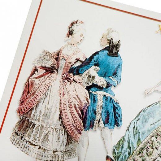 フランス ポストカード 【ヴィクトリアン朝 ルイ16世時代 1777年衣装 】【画像3】