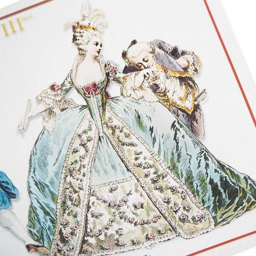 フランス ポストカード 【ヴィクトリアン朝 ルイ16世時代 1777年衣装 】【画像4】