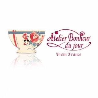 輸入ボタン アトリエ・ボヌール  フランス輸入ボタン アトリエ・ボヌール・ドゥ・ジュール【ディゴワンカフェオレ・ボウル red line】