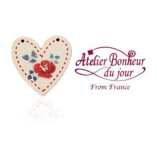 輸入ボタン アトリエ・ボヌール  フランス輸入ボタン アトリエ・ボヌール・ドゥ・ジュール【ディゴワン ハート red】