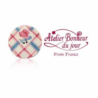 フランス輸入ボタン アトリエ・ボヌール・ドゥ・ジュール【ディゴワン ソーサー check】