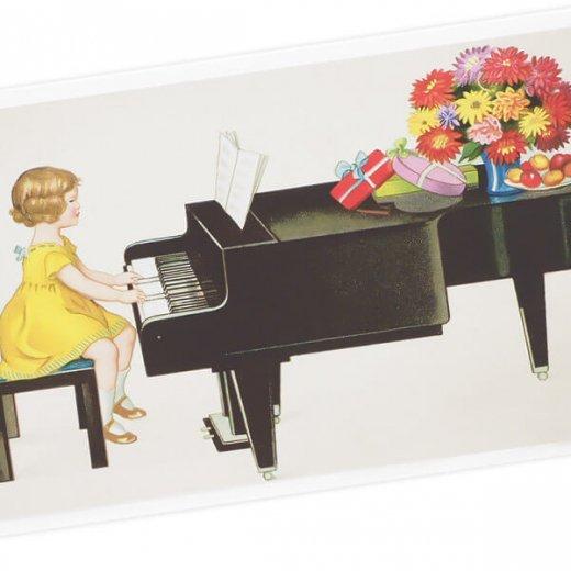 フランス ポストカード  (Je joue du piano)【画像2】