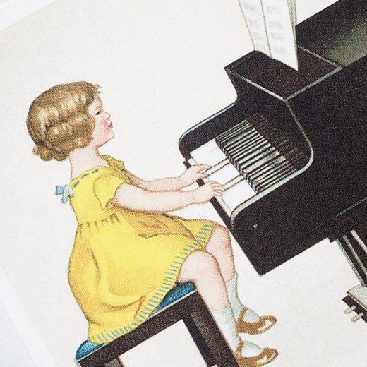 フランス ポストカード  (Je joue du piano)【画像3】