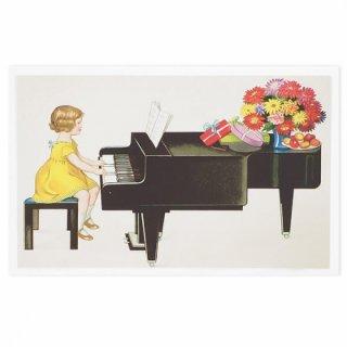 フランス ポストカード  (Je joue du piano)