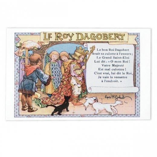 フランス ポストカード  (le roy dagobert)