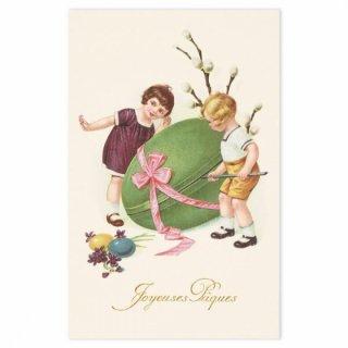 フランス イースター 復活祭 ポストカード (Paques R)