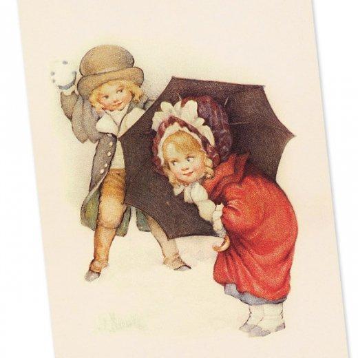フランスポストカード (Bataille de boules de neige)【画像2】