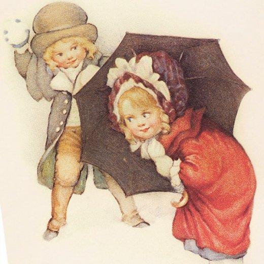 フランスポストカード (Bataille de boules de neige)【画像3】
