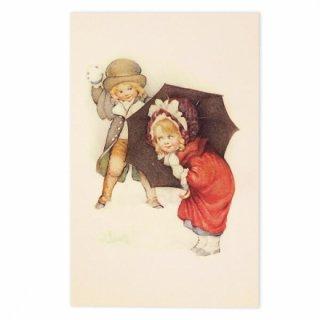 ビクトリアン フランスポストカード (Bataille de boules de neige)